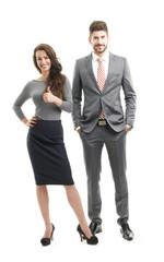 Full length portrait of sales team