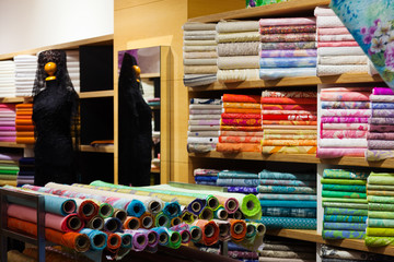 interior of fabric shop