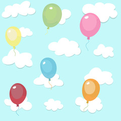 seamless pattern with colorful balloons