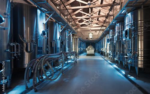 Leinwandbild Motiv  contemporary winemaker factory