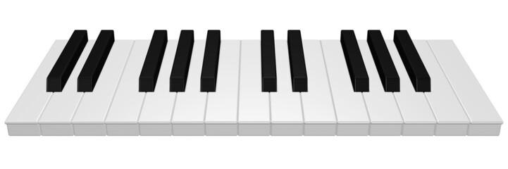 Klaviertasten - zwei Oktaven