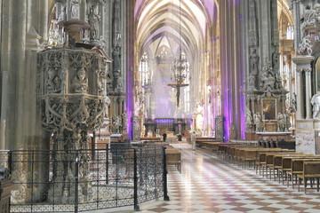 Stephans dom, Stefans Kirche in Wien, Kirchenschiff innen