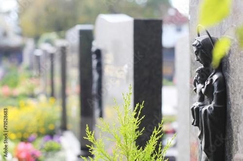 Plexiglas Begraafplaats Gräber Reihe Ansicht
