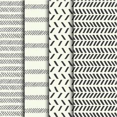Set of four seamless hand drawn textures