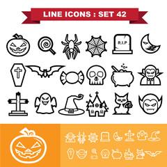 Line icons set 41
