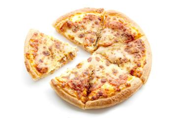 peperoni pizza on white isolate
