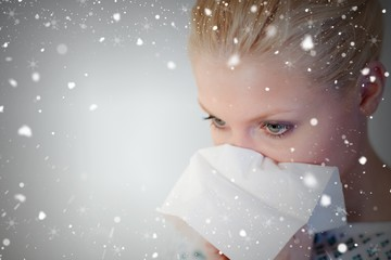 Composite image of patient with the flu