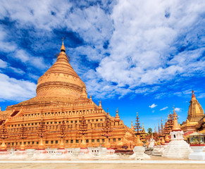 Shwe Zi Gon pagoda in Nyaung-U Bagan of Myanmar