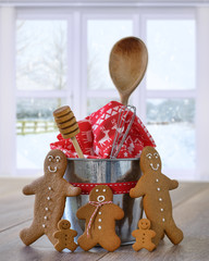 Gingerbread With Baking Utensils