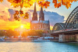 Fototapety Cologne at sunset