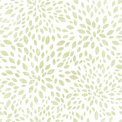 vector green leaves explosion textile seamless texture pattern