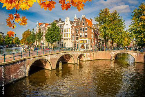 Fotobehang Amsterdam Amsterdam cityscape