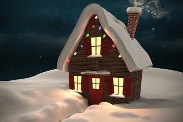 Composite image of christmas house