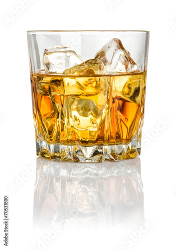 canvas print picture Whisky on the rocks