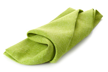 green cotton napkin