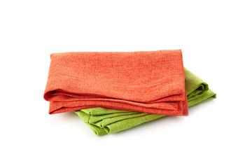 various folded cotton napkins