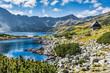 Leinwanddruck Bild - Mountain lake in 5 lakes valley in Tatra Mountains, Poland.