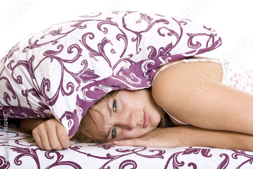 canvas print picture Woman trying to sleep