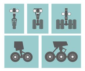 Airplane elements. Landing gears.