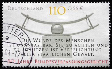 Postage stamp Germany 2001 Federal Constitutional Court