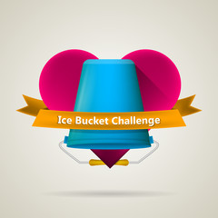 Conceptual vector illustration for Ice Bucket Challenge