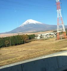 富士山と鉄塔