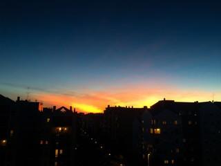 tramonto urbano