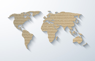 Vector modern cardboard map background.
