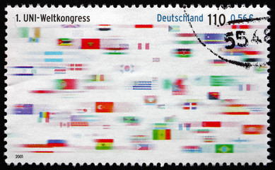 Postage stamp Germany 2001 Flags