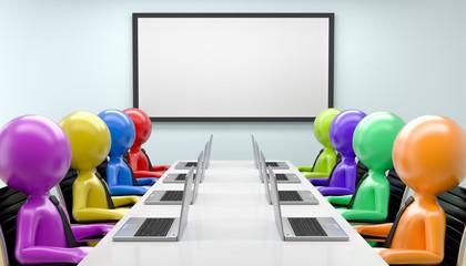 bunte Männchen im Konferenzraum