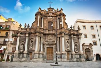 Church in Sant Anna street, Palermo.