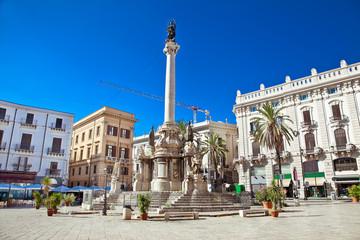 Piazza San Domenico in Palermo. Sicily.