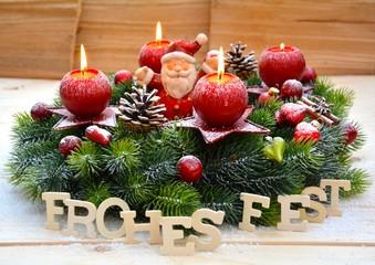 Adventskranz - Frohes Fest