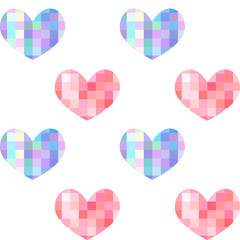 seamless pattern heart mosaic for Valentine's Day