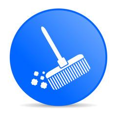 broom internet blue icon