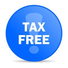 tax free internet blue icon