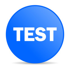 test internet blue icon