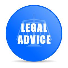 legal advice internet blue icon