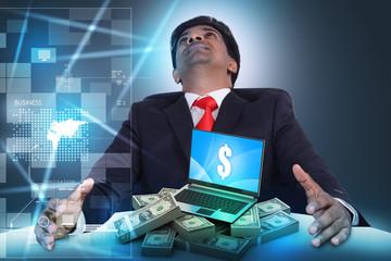 Online money concept