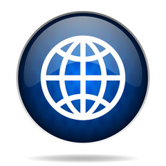 world internet blue icon