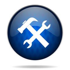 tools internet blue icon