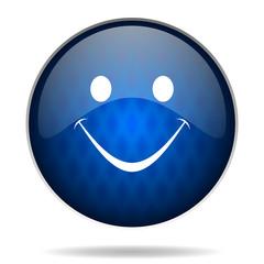 smile internet blue icon