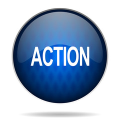action internet blue icon