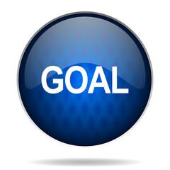 goal internet blue icon