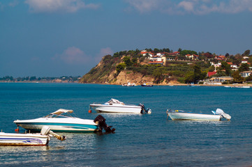 Panoramic view of Greek traditional village