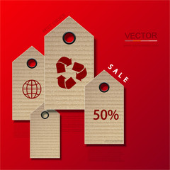 Vector modern sale infographic background.