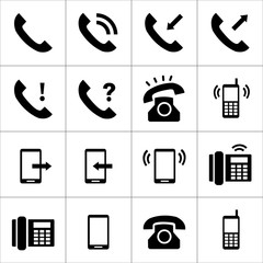 Telephone icons set