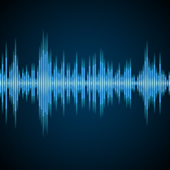 Abstract equalizer background blue