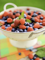 Fruits - fresh berries from garden