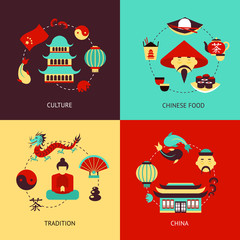 China illustration set